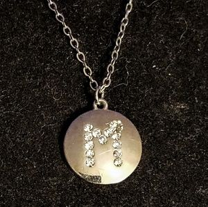 """Jewelry - Letter """"M"""" pendant necklace"""
